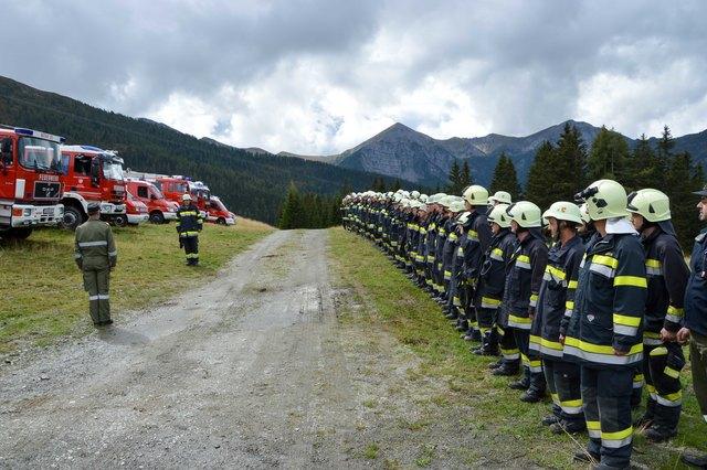 Bei der Großübung am Goldeck mussten 110 Mann koordiniert werden