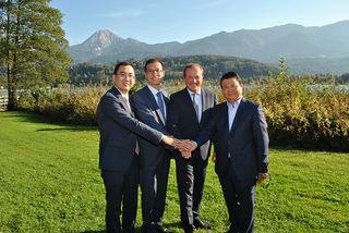 Die chinesische Delegation zu Besuch in Kärnten.