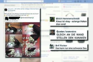 """Über Monate hinweg wurden Screenshots aus der Facebookgruppe """"Ich wohne auf der richtigen Seite der Donau (21., 22. Bezirk)"""" gesammelt."""