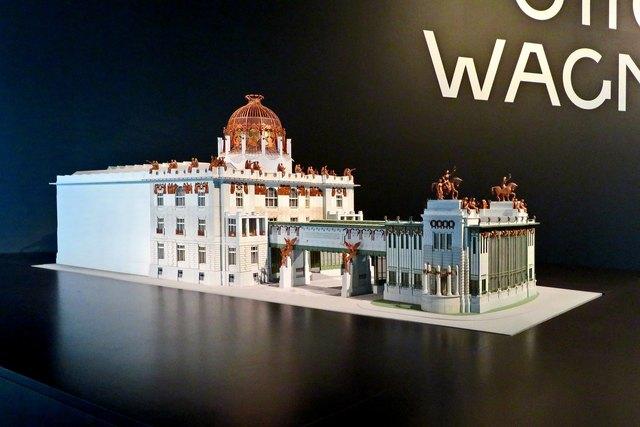 Das Modell von Otto Wagners Großem Entwurf für ein neues Wien-Museum, das jedoch nie gebaut wurde