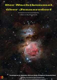 Der Jennersdorfer Fotograf Michael Schmidt zeigt seine Astro-Bilder.
