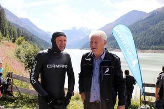 Christian Schaar (links) mit Eugen Larcher, GF der Kaunertaler Gletscherbahnen