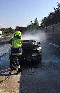 Ein vollkommenes Ausbrennen des Wagens konnte verhindert werden