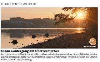 Habe mich sehr über die Veröffentlichung meines Fotos von dem Sonnenuntergang in der Printausgabe gefreut! Danke an die Redaktion :-)