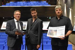 Kufsteins Bürgermeister Martin Krumschnabel, Kulturreferent Klaus Reitberger und Kulturbeauftragter Bernhard Sieberer präsentierten das neue Programm für die Saison 2018/2019.