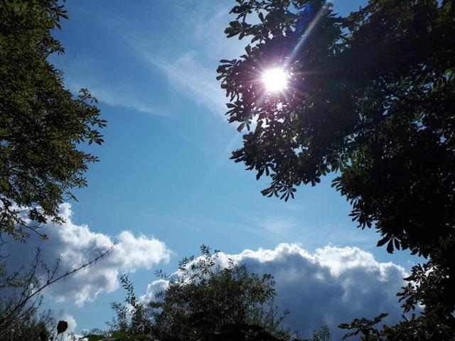 Im Sommerhalbjahr ließ sich die Sonne oft am Himmel blicken