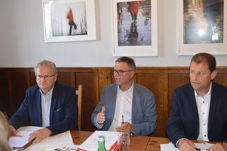 Franz Schabetsberger, Erich Rippl und Fritz Hosner (v.l)