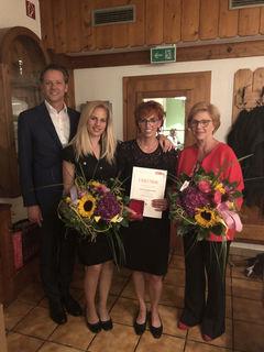 WKS-Bezirksstellenobmann LAbg. Wolfgang Pfeifenberger, Felicitas Zoroaster, Annemarie Braunsteiner und Doris Zoroaster.