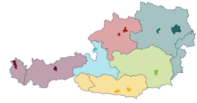 Die Lizenzen für die 5G-Frequenzen sind in zwölf Regionen aufgeteilt.
