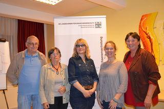 Gerhard Stanik, Mag. Sylvia Körbler (Gen. Plus),  Mag. Elisabeth Koller, DAS Elisabeth Lehr (Erwachsenschutz Zwettl) GR Gabi Linser (Grüne Zwettl) - v.l.