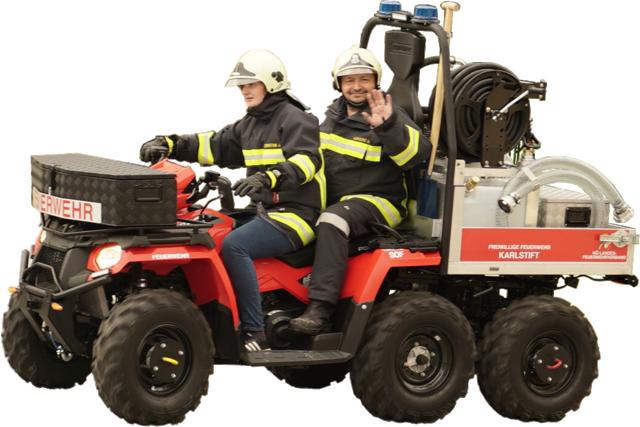 Das Feuerwehrquad wurde speziell für Nachlöscharbeiten bei Waldbränden entwickelt.