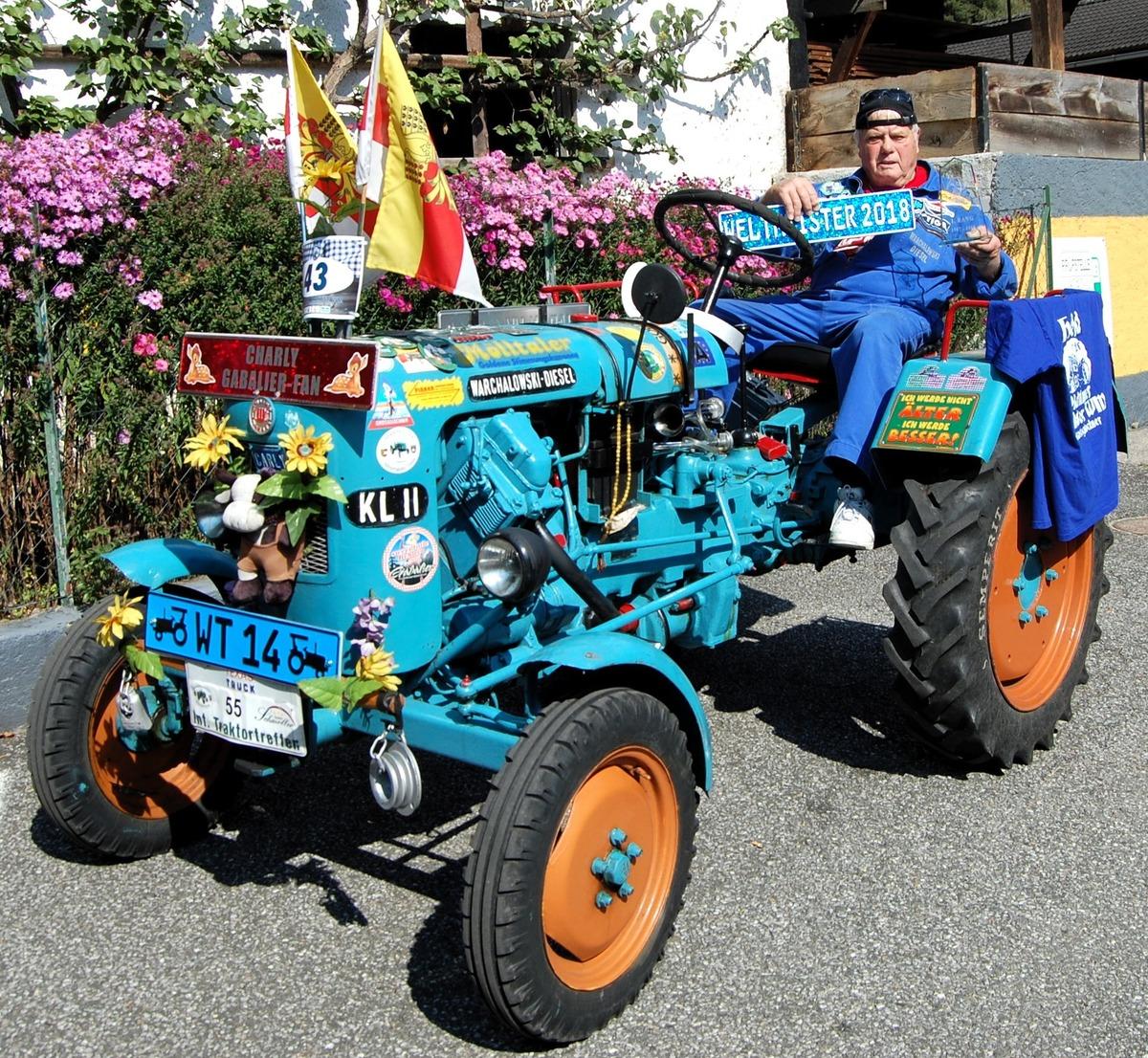 Mühldorfer ist Oldie-Traktoren-Weltmeister - Spittal