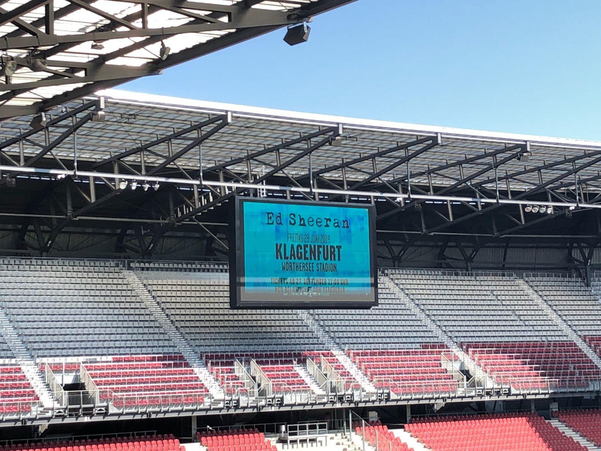 Ed Sheeran 2019 im Wörthersee Stadion - Klagenfurt c404cf18a0