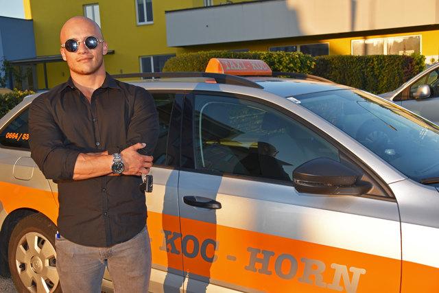 Chef Ludwig Kierberger (22) - er übernahm erst vor kurzem die Fa. Taxi Koc - witterte Betrug und schritt sofort ein