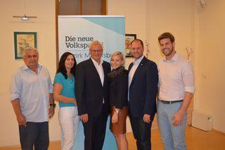 ÖVP-Diskutanden: Otto Mersich, Melanie Eckhardt, Thomas Steiner, Bettina Pauschenwein, Christian Sagartz, Christoph Wolf