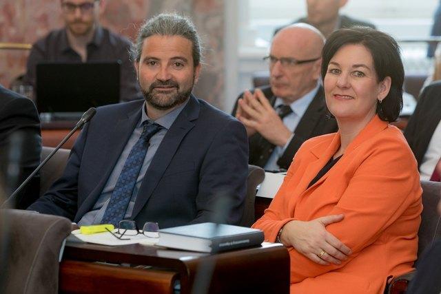 Liste Fritz-Landtagsabgeordneter Markus Sint und Liste Fritz-Klubobfrau Andrea Haselwanter-Schneider