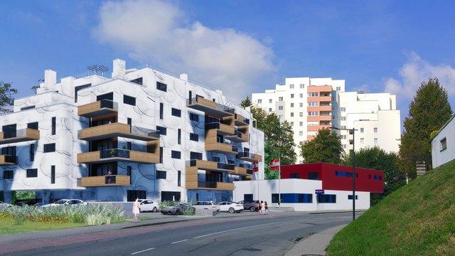 Projektvorschau: So in etwa soll das neue Wohngebäude und die Polizeistation am Figlgrund aussehen.