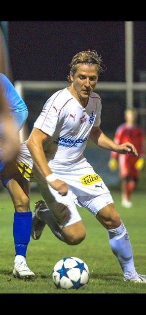 Mittelfeldspieler Daniel Köberl hier in Aktion für die Kampfmannschaft.
