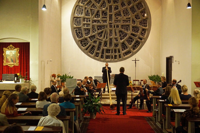 Ein Alphorn wurde in das Konzert integriert.