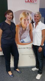 FIW-Bezirksvertreterin Eva Helmer-Schneider mit Daniela Eisenheld.