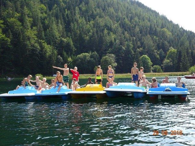 Natürlich stand neben den Trainings auch Spaß am Programm: Wasserspaß am Erlaufsee
