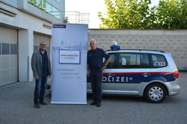 Rudolf Lurger und Walter Horinek (Polizei Ober-Grafendorf)
