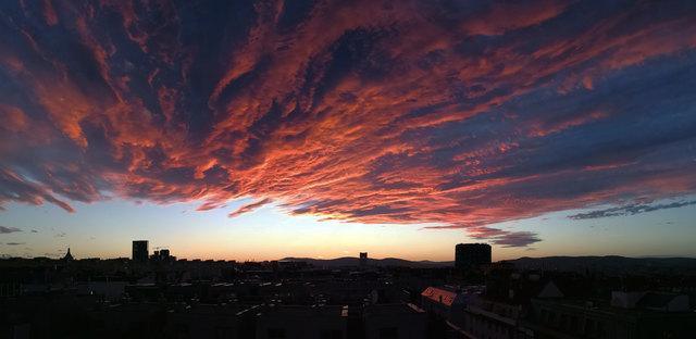Panoramabild mit Huawei Mate 9 - Am Abend vor dem nächtlichen Sturm
