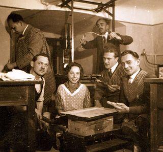 Dunkelkammer des Fotoklubs Freistadt im Jahre 1929.