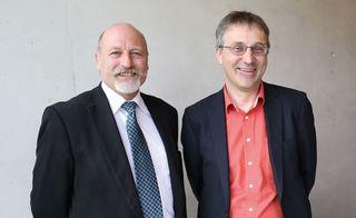 Johannes Gschwandtner (links) und Hermann Schübl, Geschäftsführer der technosert electronic GmbH