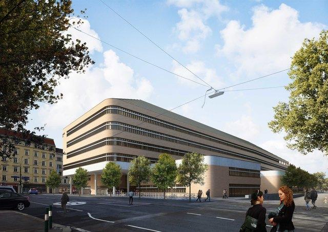 Zukunftsvision: So soll das künftige Biologizentrum in St. Marx aussehen.