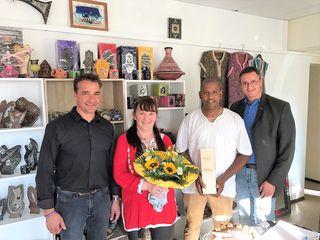 Bei der Geschäftseröffnung (von links): Jürgen Szerencsits, Claudia Filo, Ahmed El Ghazy, Thomas Novoszel.