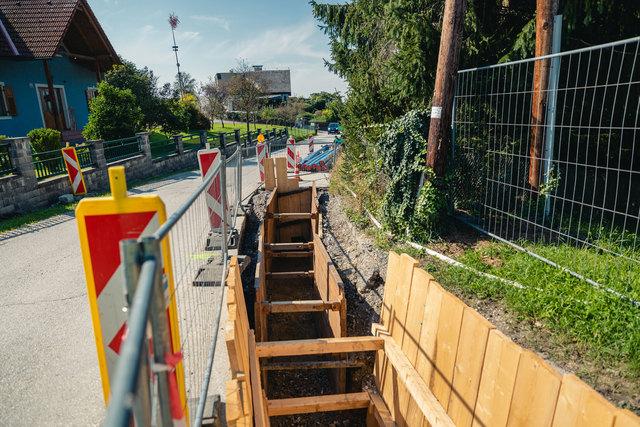 """""""Schau-Baustelle"""": In der Petersbergenstraße ist die innovative Bautechnik in Verwendung und kann besichtigt werden."""