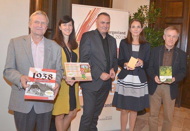 b68a206d89 Bei der Preisverleihung: Norbert Pingitzer, Silvia Mühlgaszner, LR Hans  Peter Doskozil, Nicole