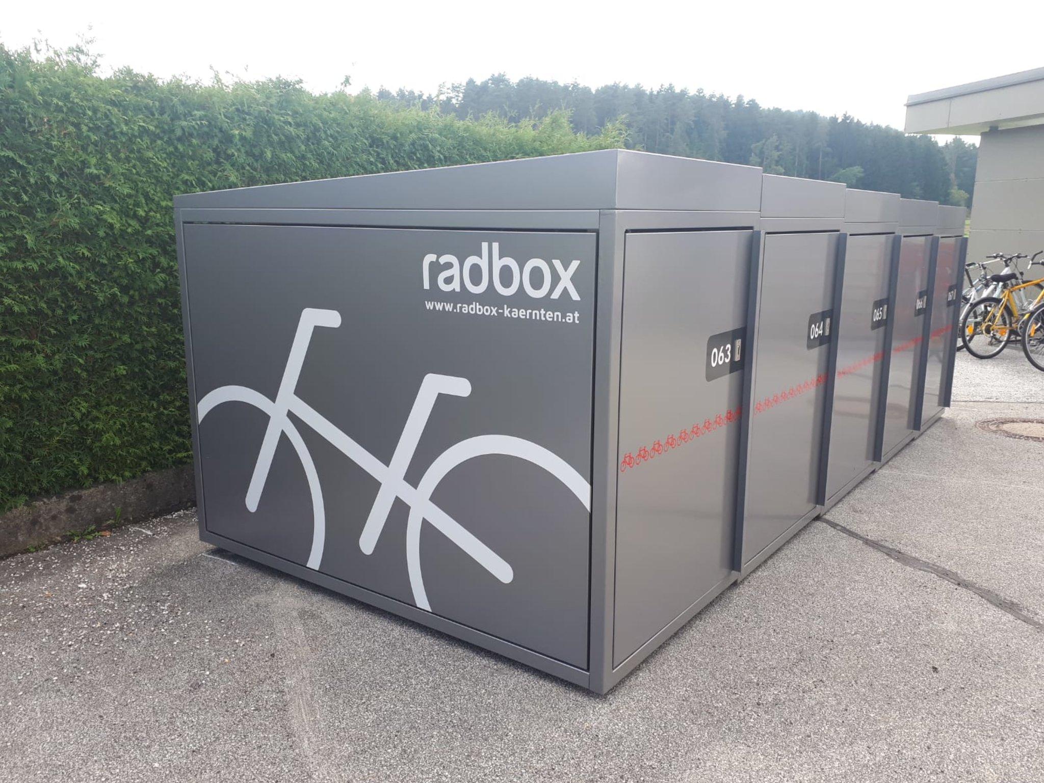 Für Pendler: Radboxen am Bahnhof St. Michael ob Bleiburg zu