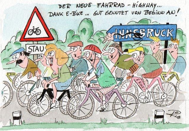 Ein Umstieg vom Auto auf's E-Bike löst ein Umweltproblem, ein anderes Problem dürfte sich aber nur verlagern ...