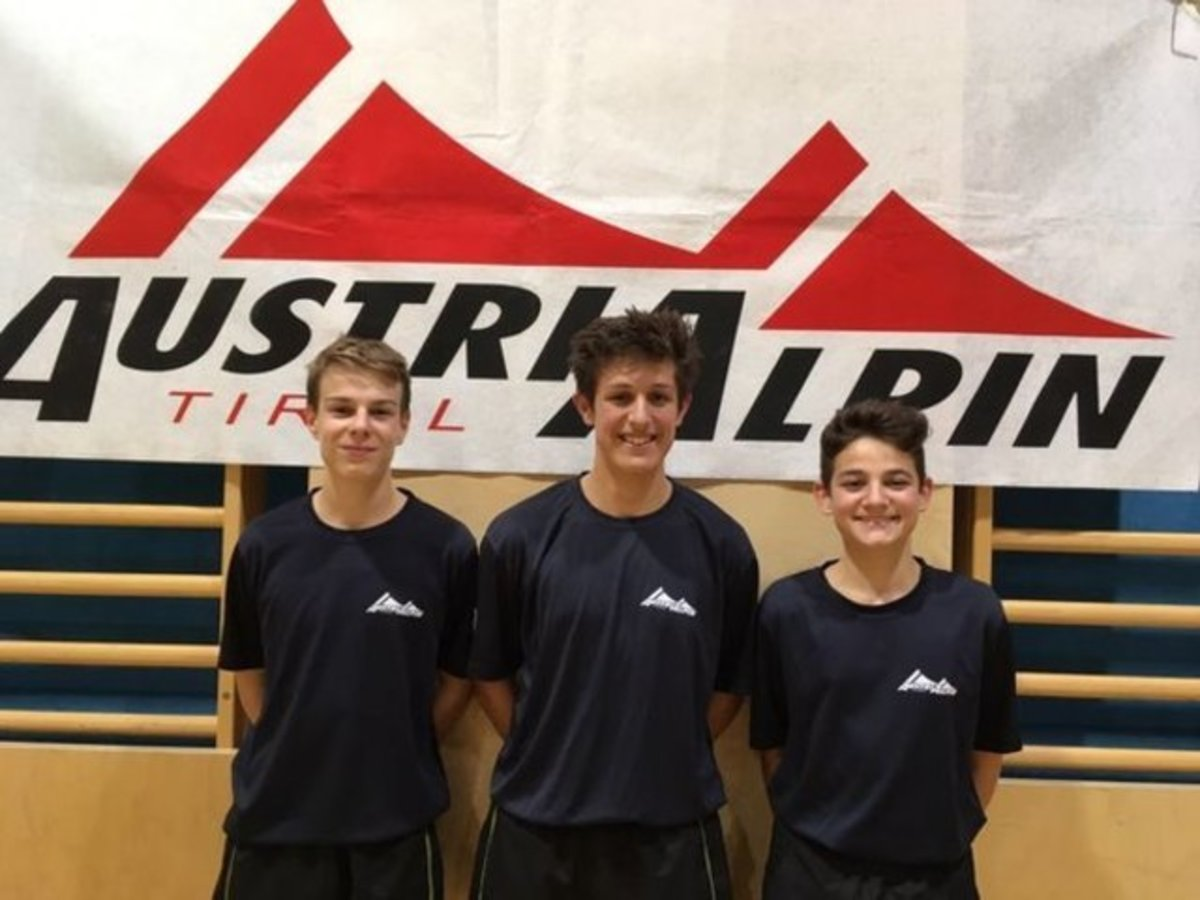 Simon Gleirscher,Fabian Kindl und David Kandlervom TSV AustriAlpin Fulpmes