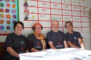 Susanne Dullinger, Supervisorin Silvia Drach, Roland Heiml und Johann Dullinger (v.l.) haben die neue Einrichtung konzipiert.