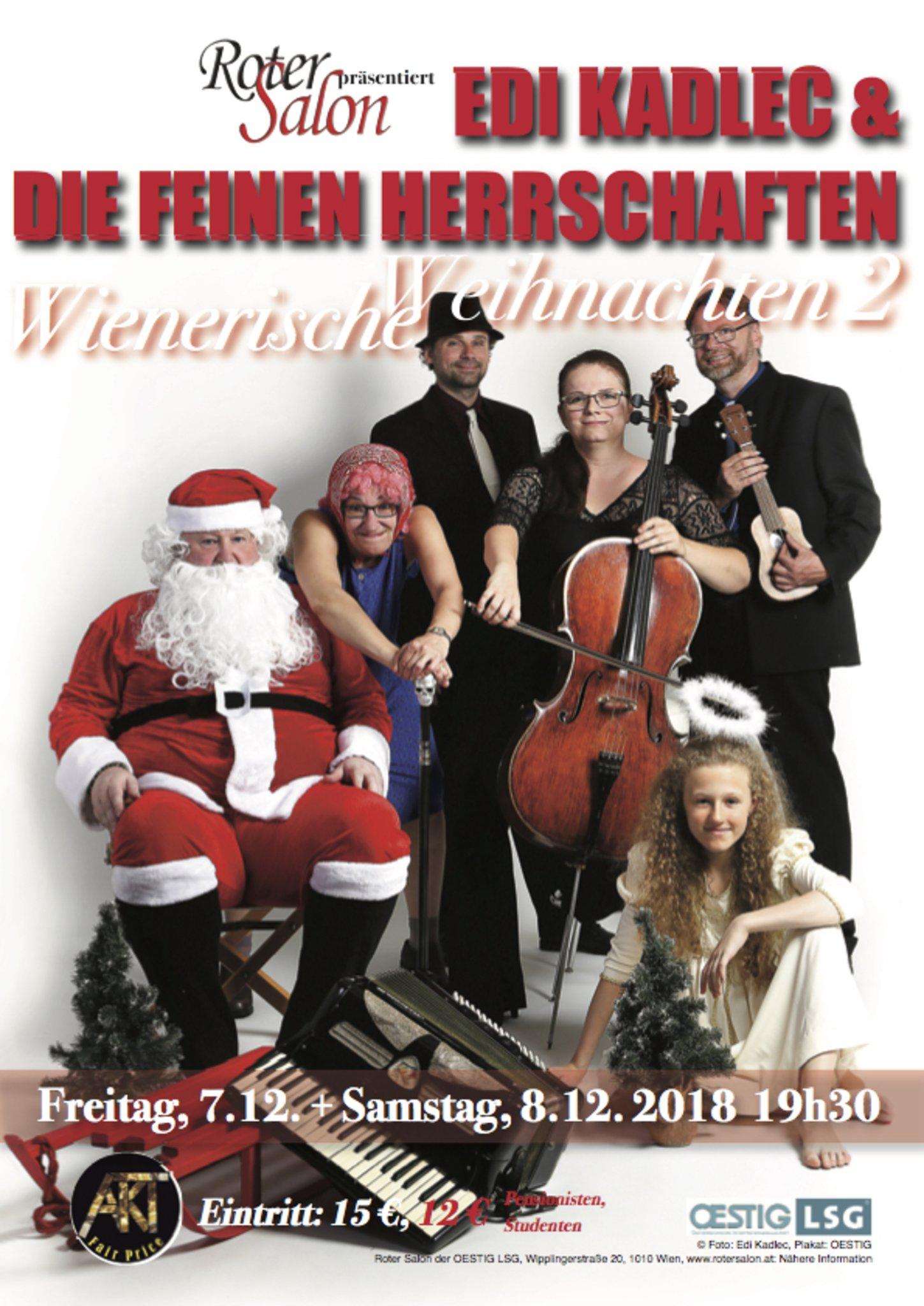 Musik-Revue im Wien Innere Stadt: Wienerische Weihnachten 2 – EDI ...