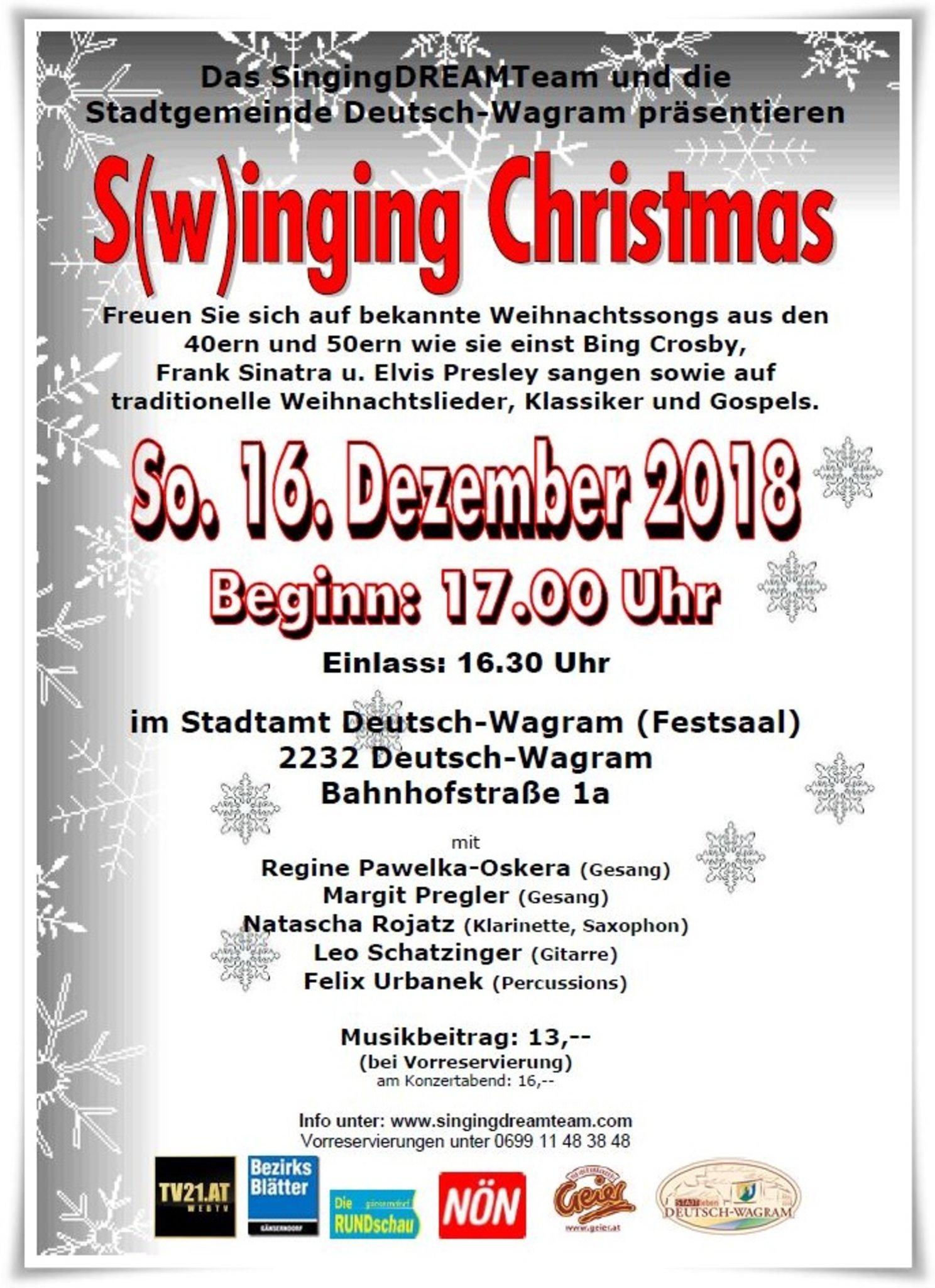 Traditionelle Weihnachtslieder.S W Inging Christmas Im Stadtamt Deutsch Wagram Swing Gospel