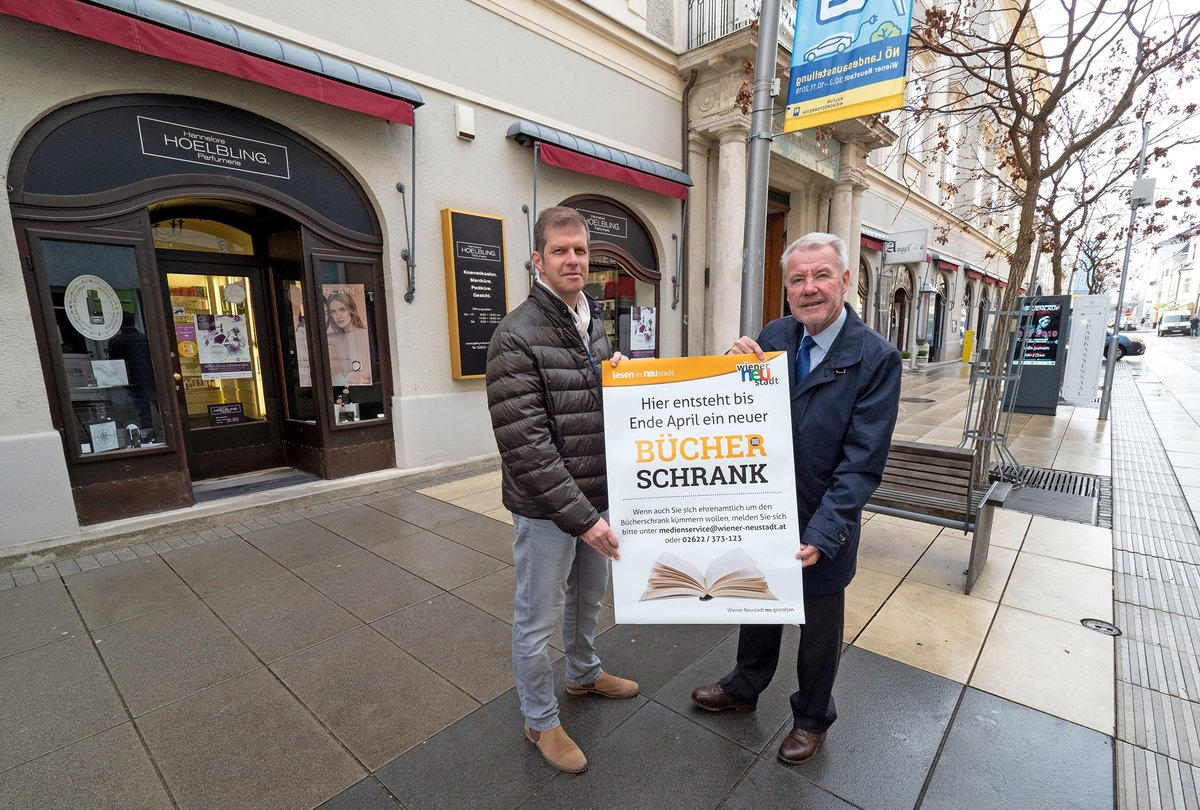 Neuer Bücherschrank In Der Fußgängerzone Wiener Neustadt