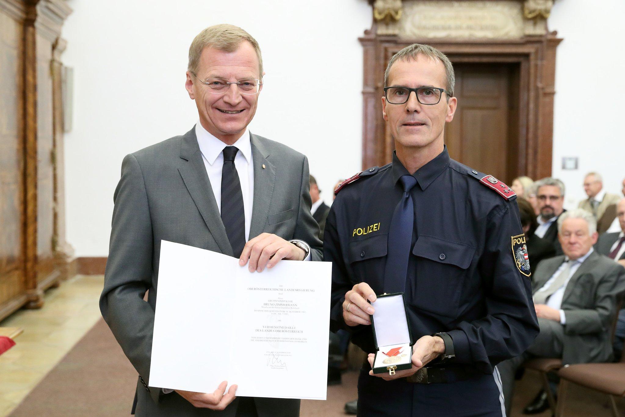 Auszeichnung Bruno Zimmermann Erhielt Verdienstmedaille Des Landes