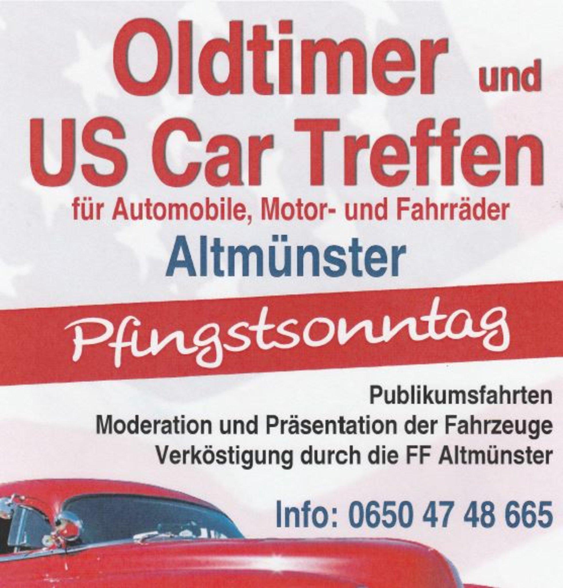 Pfingstsonntag 2019: US Car und Oldtimertreffen in Altmnster