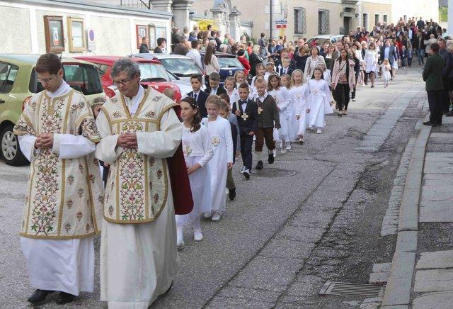 Sarleinsbach: Christi Himmelfahrt und Erstkommunion an einem