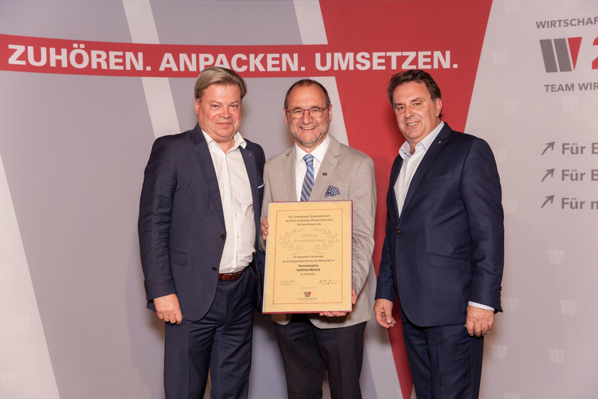Wirtschaftsbund ehrt Gottfried Wieland aus Senftenberg - Krems - meinbezirk.at