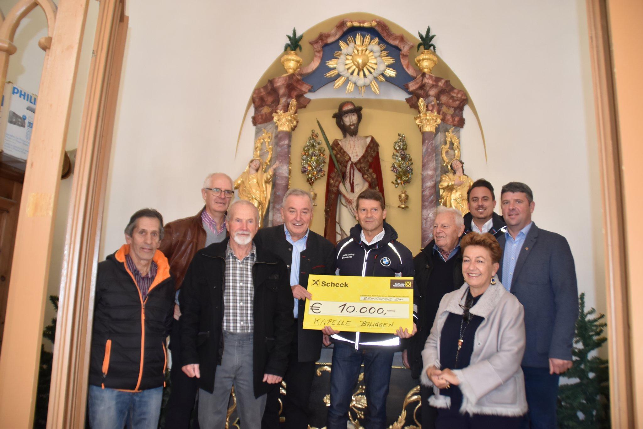 Kapelle in Bruggen wird restauriert: BMW unterstützt Kapellensanierung mit 10.000 Euro - Imst - meinbezirk.at