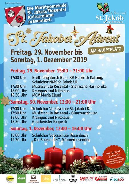 Adventmarkt in St. Jakob im Rosental