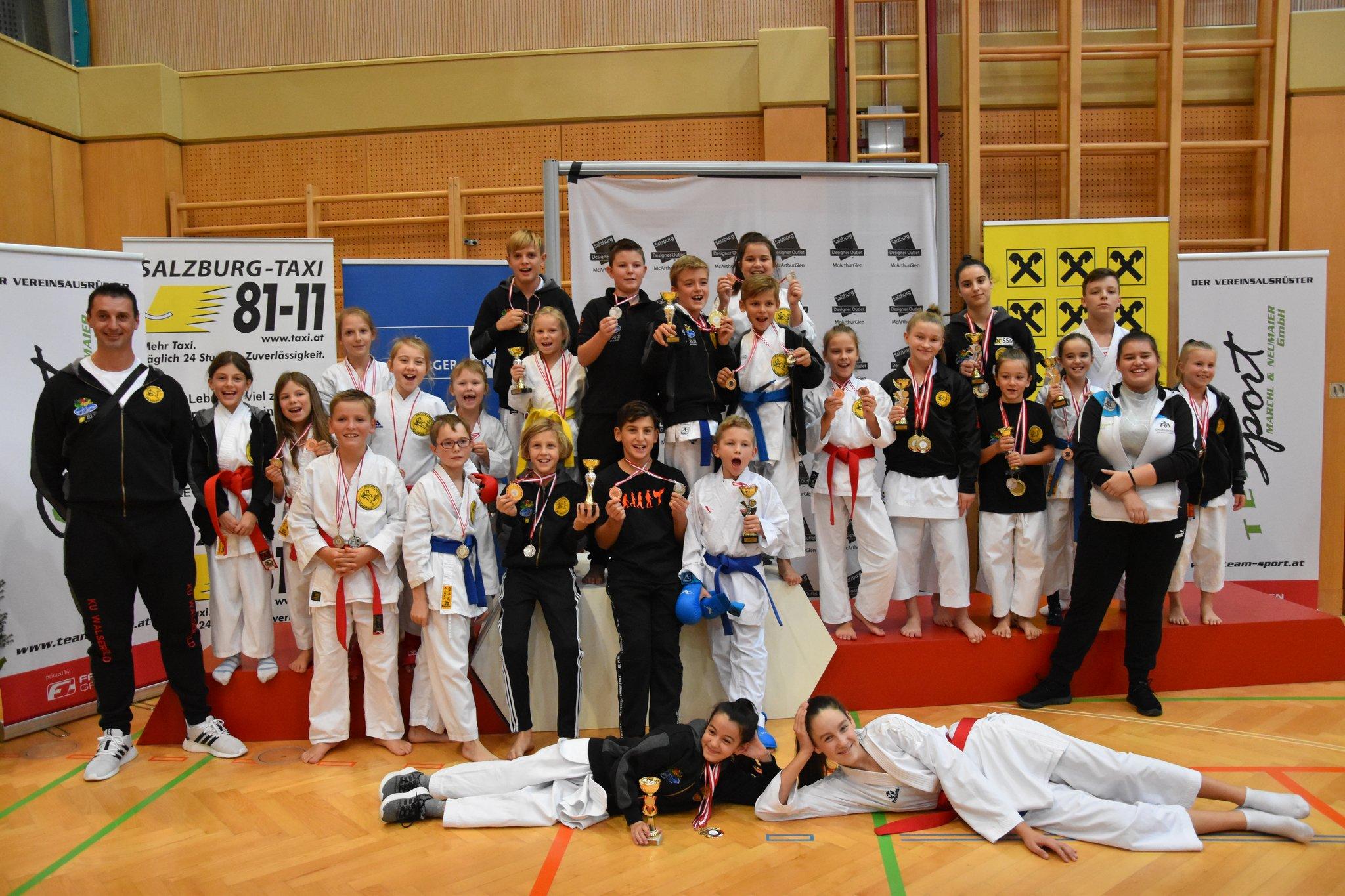 Karate - 5. INTERNATIONALER NACHWUCHSCUP UND PARA-KARATECUP 2019: Karate - 36 Medaillen für Karate Union Walserfeld! - meinbezirk.at