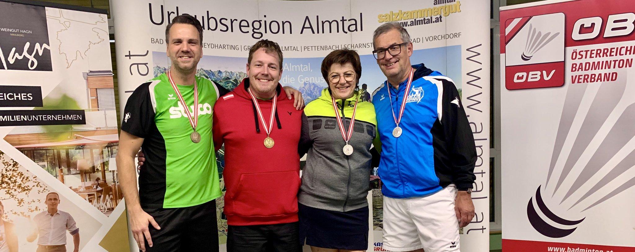 Badminton: Fünf Mal Edelmetall für UBC-Oldies bei Heim-Staatsmeisterschaft - meinbezirk.at