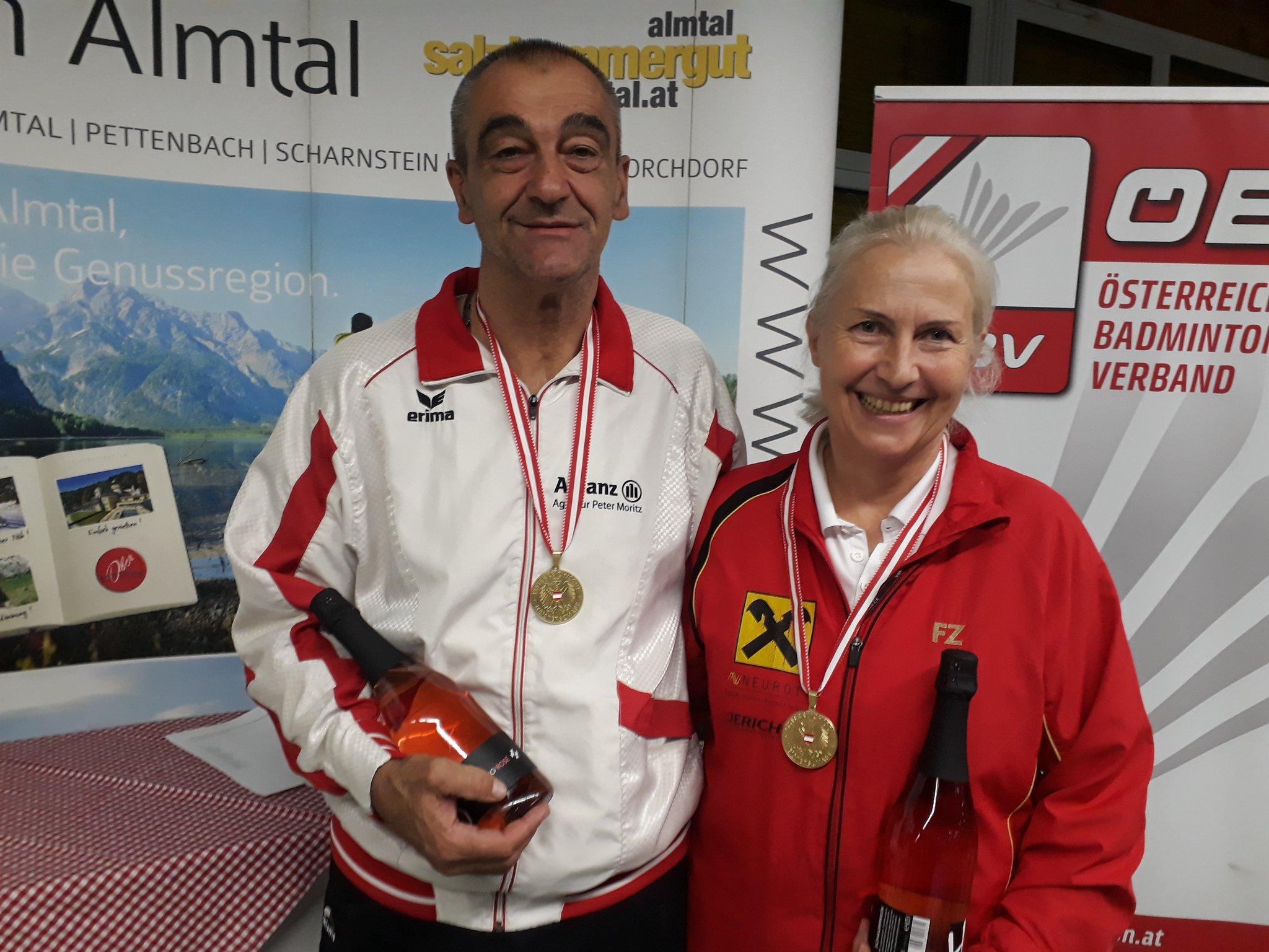 Peter Moritz dominierte bei den österreichischen Badminton Seniorenmeisterschaften - meinbezirk.at
