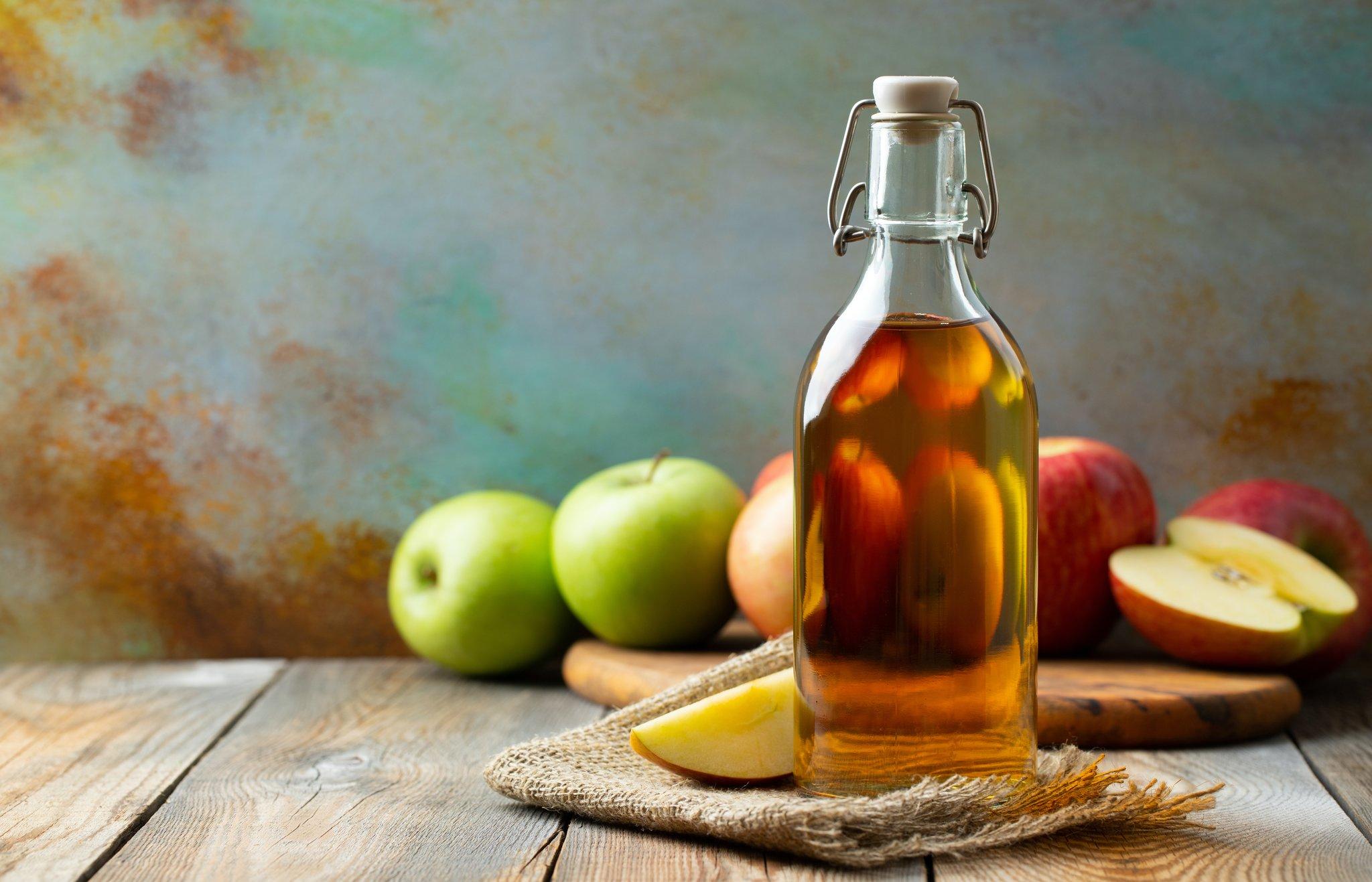 Folgen von Apfelessig zur Gewichtsreduktion